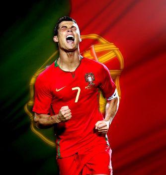 Cristiano Ronaldo : drapeau portugais