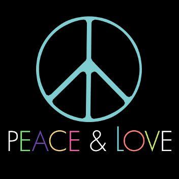logo peace and love