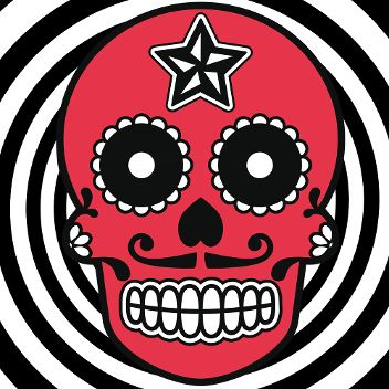 Mexican Skull red