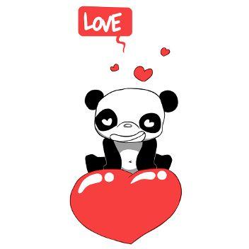 Panda cœur